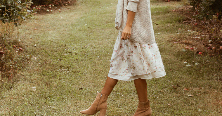 apple picking + the perfect fall ankle boots